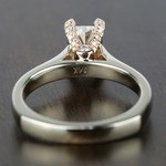 Custom Two-Tone Radiant Diamond Engagement Ring - small angle 4
