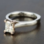 Custom Two-Tone Radiant Diamond Engagement Ring - small angle 2