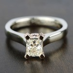 Custom Two-Tone Radiant Diamond Engagement Ring - small