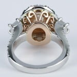 Rose Gold & Platinum Double Halo Diamond Engagement Ring - small angle 4