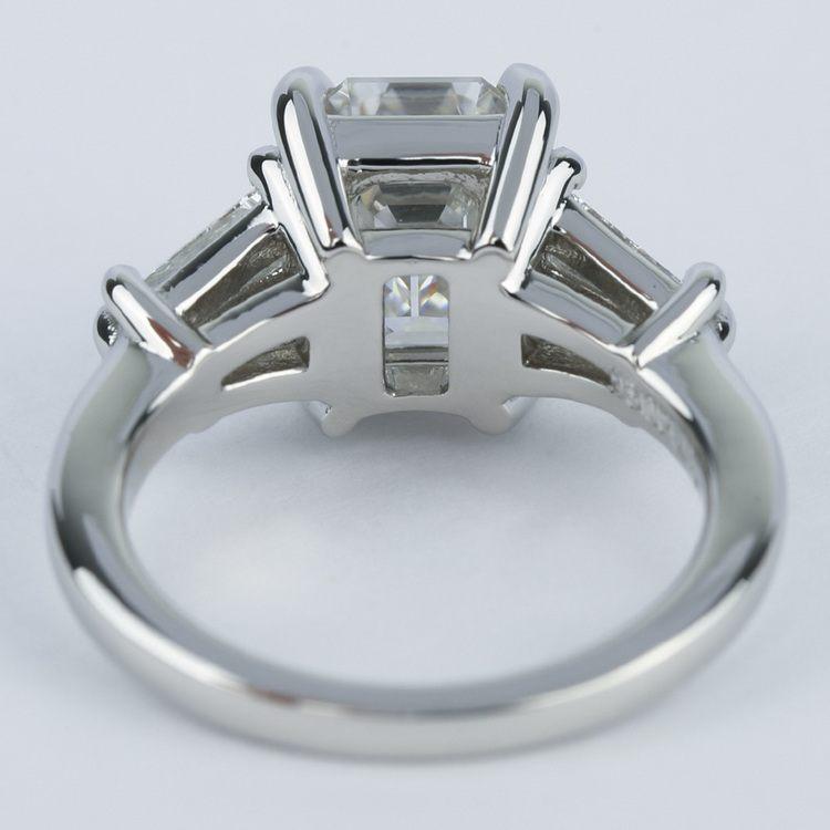 Custom Double Baguette Emerald Diamond Ring angle 4