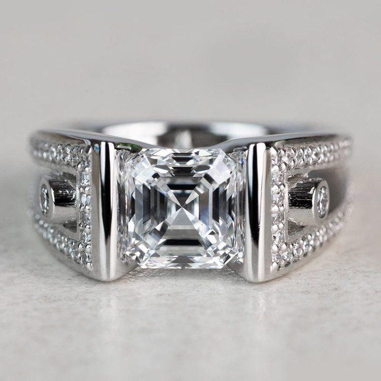 Custom 3 Carat Asscher Cut Platinum Ring