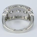 Vintage Statement Three-Diamond Diamond Engagement Ring - small angle 4