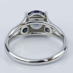 Custom Alexandrite and Sapphire Gemstone Engagement Ring - small angle 4