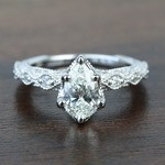 Custom Antique Milgrain Pear Diamond Engagement Ring - small