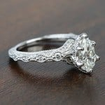 Custom Antique Milgrain Pear Diamond Engagement Ring - small angle 3