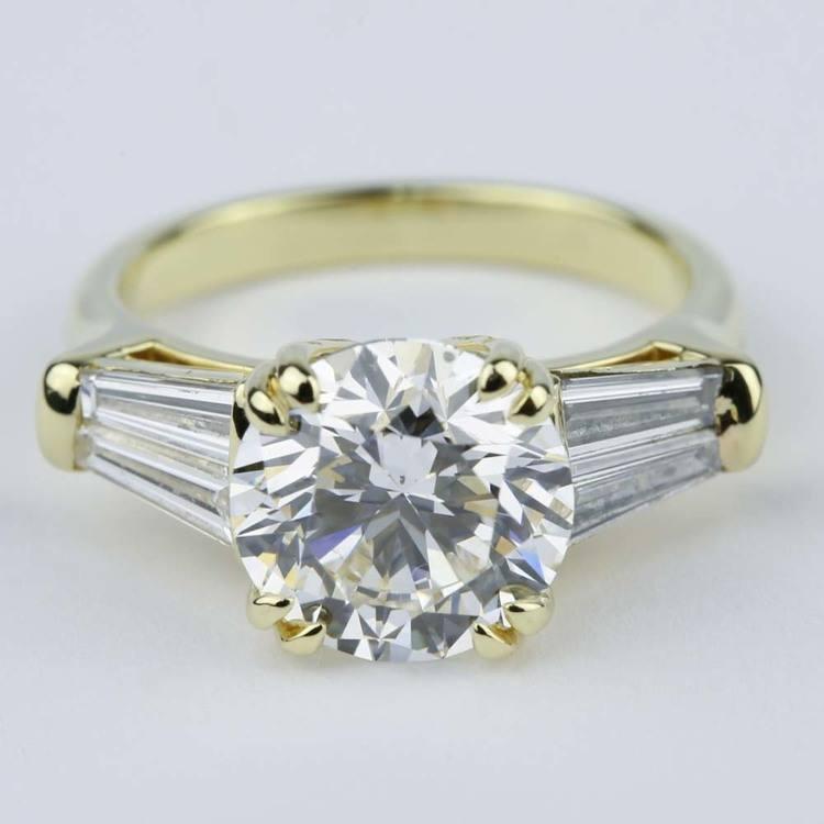 Custom Double-Baguette Diamond Engagement Ring (3 Carat)