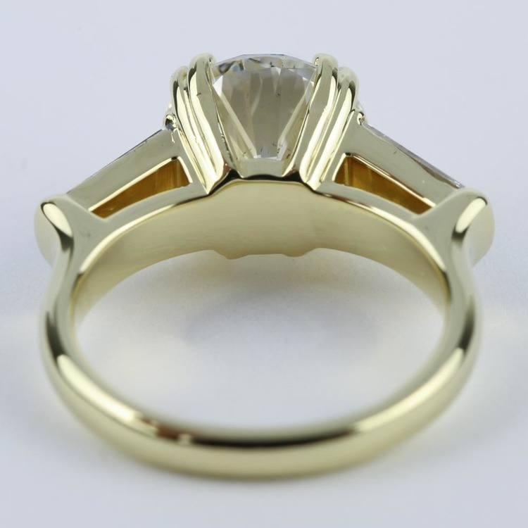 Custom Double-Baguette Diamond Engagement Ring (3 Carat) angle 4