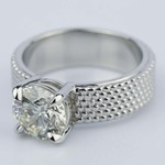 Custom Beaded Solitaire Diamond Engagement Ring (1.90 ct.) - small angle 2