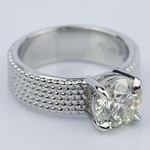 Custom Beaded Solitaire Diamond Engagement Ring (1.90 ct.) - small angle 3