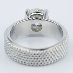 Custom Beaded Solitaire Diamond Engagement Ring (1.90 ct.) - small angle 4