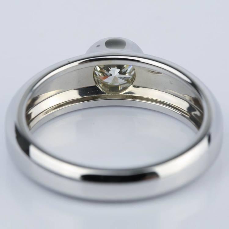 Custom Bezel Solitaire Diamond Engagement Ring (0.75 ct.) angle 4