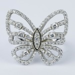 Custom Butterfly Shaped Diamond Fashion Ring  - small