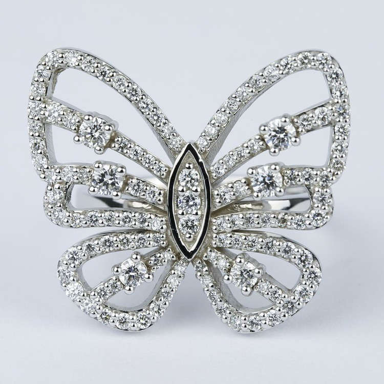 Custom Butterfly Shaped Diamond Fashion Ring