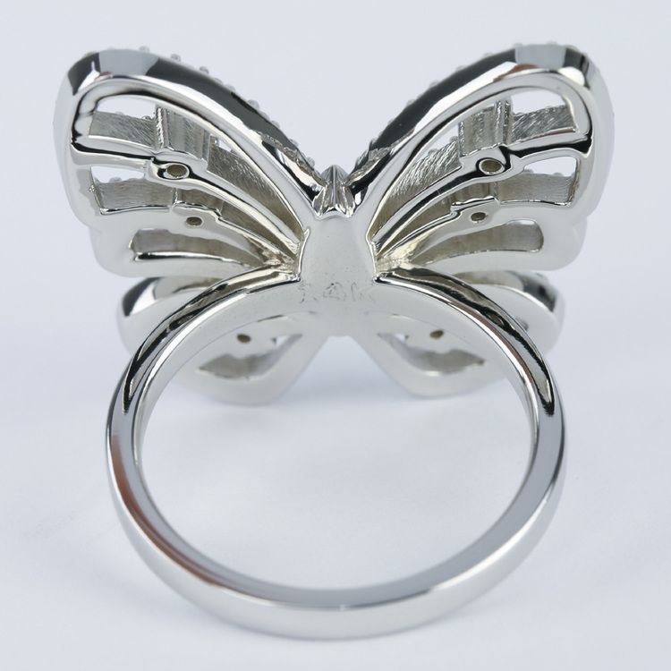 Custom Butterfly Shaped Diamond Fashion Ring  angle 4