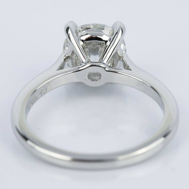 Custom Cathedral Diamond Engagement Ring (1.64 ct.) angle 4
