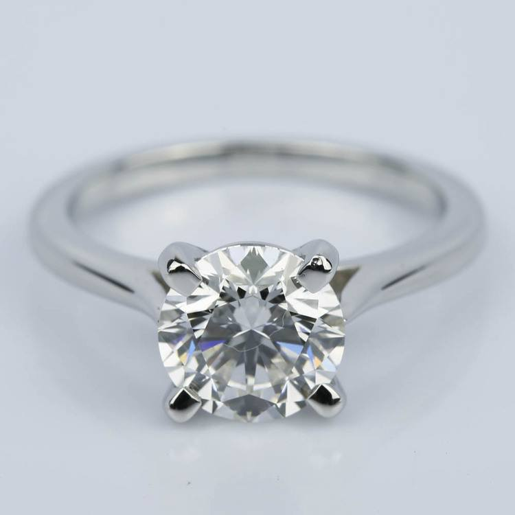 Custom Cathedral Diamond Engagement Ring (1.64 ct.)