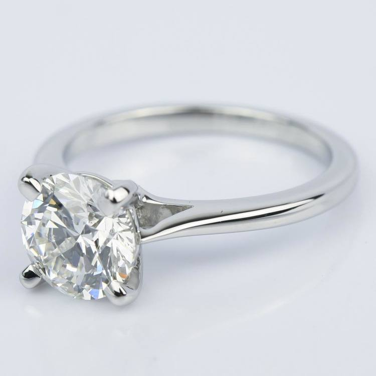 Custom Cathedral Diamond Engagement Ring (1.64 ct.) angle 2