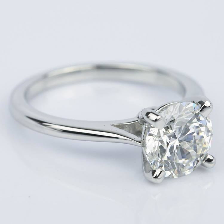 Custom Cathedral Diamond Engagement Ring (1.64 ct.) angle 3