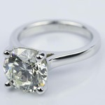 Custom Cathedral Solitaire Diamond Ring (3 Carat) - small angle 2