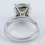 Custom Cathedral Solitaire Diamond Ring (3 Carat) - small angle 4