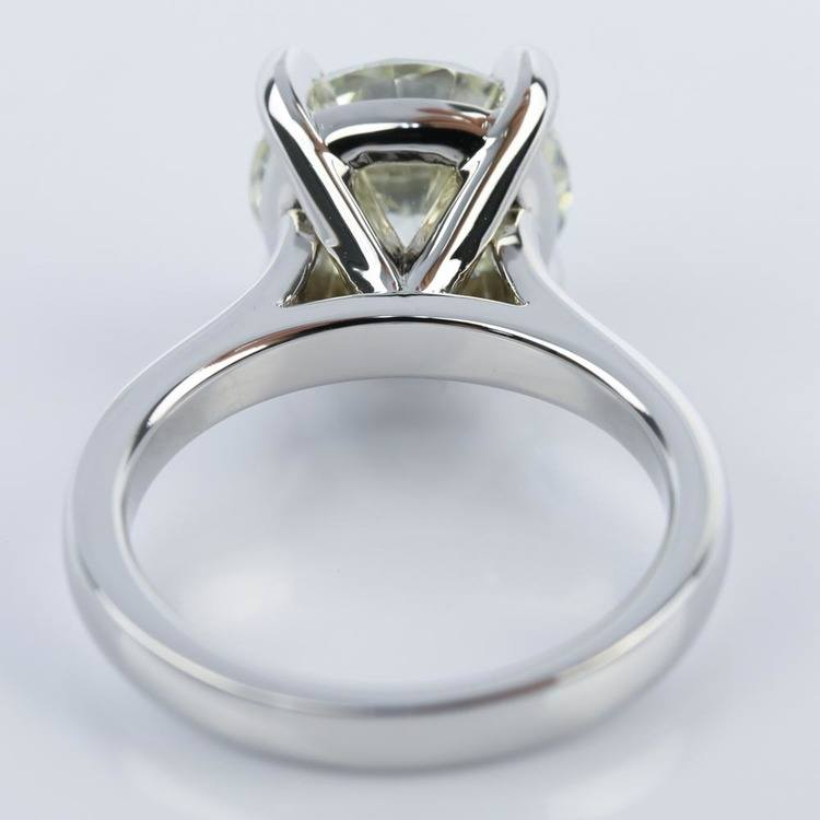 Custom Cathedral Solitaire Diamond Ring (3 Carat) angle 4