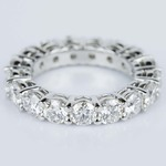 Custom Certified Diamond Eternity Ring in Platinum (4.25 ctw.)  - small