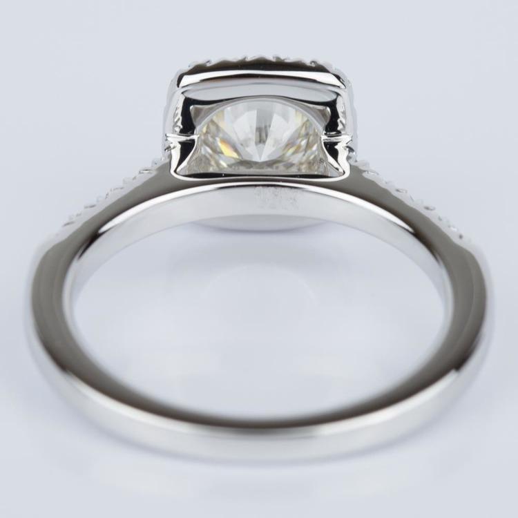 Custom Cushion Shape Diamond Engagement Ring (0.52 ct.) angle 4