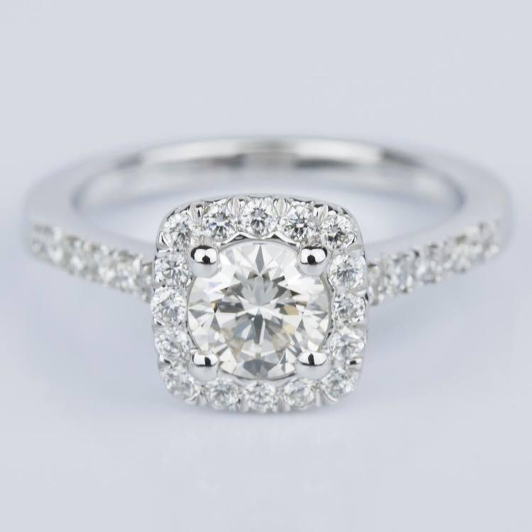 Custom Cushion Shape Diamond Engagement Ring (0.52 ct.)