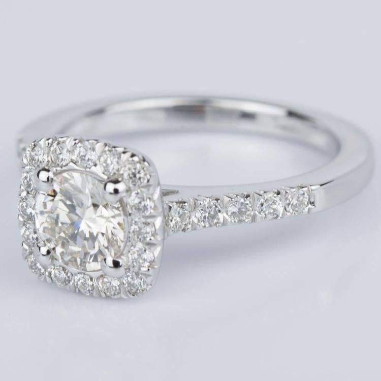 Custom Cushion Shape Diamond Engagement Ring (0.52 ct.) angle 2