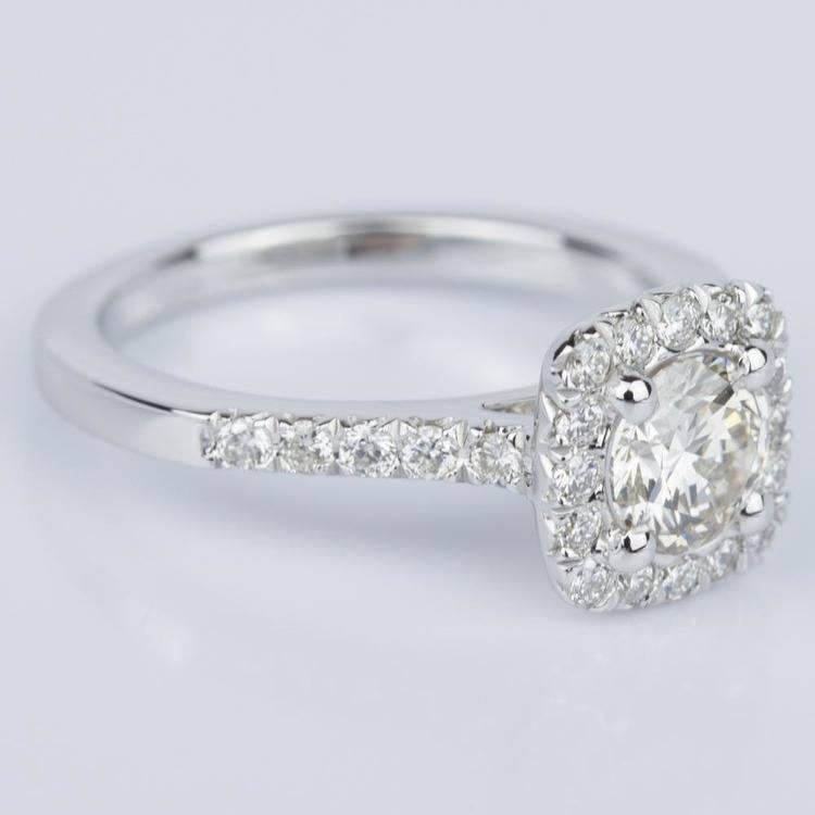Custom Cushion Shape Diamond Engagement Ring (0.52 ct.) angle 3