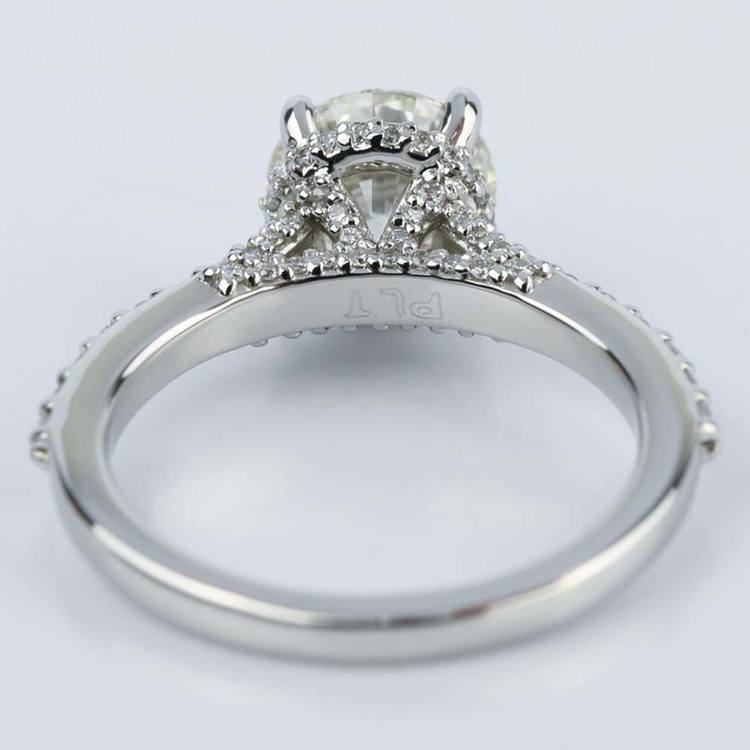 Custom Diamond Collar Engagement Ring in Platinum angle 4