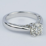 Antique Side-Scroll Diamond Engagement Ring (1.50 Carat) - small angle 3