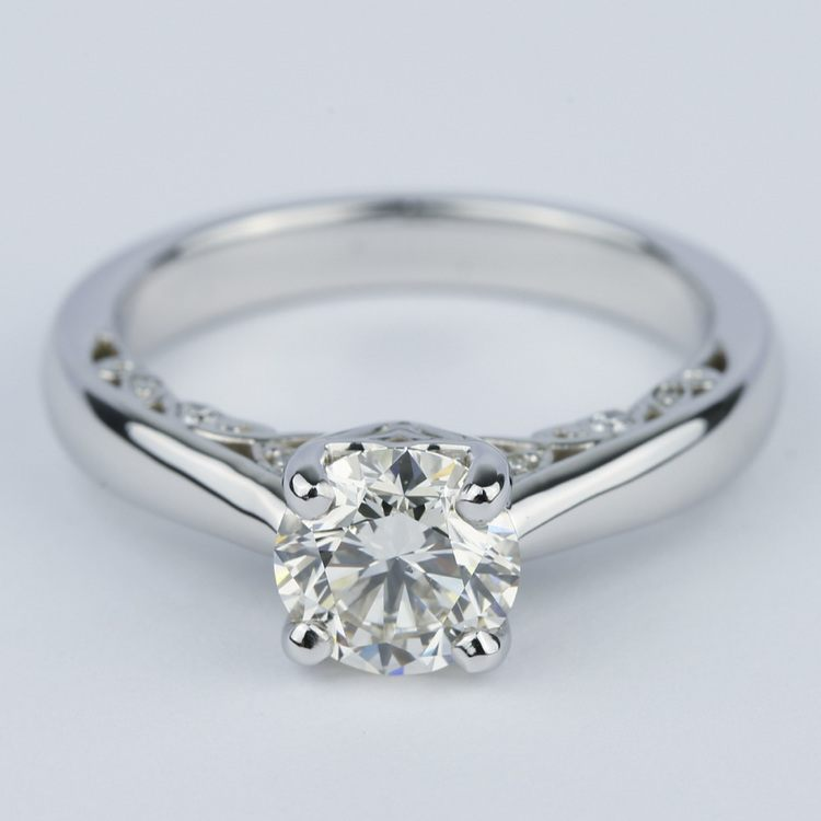 Antique Side-Scroll Diamond Engagement Ring (1.50 Carat)