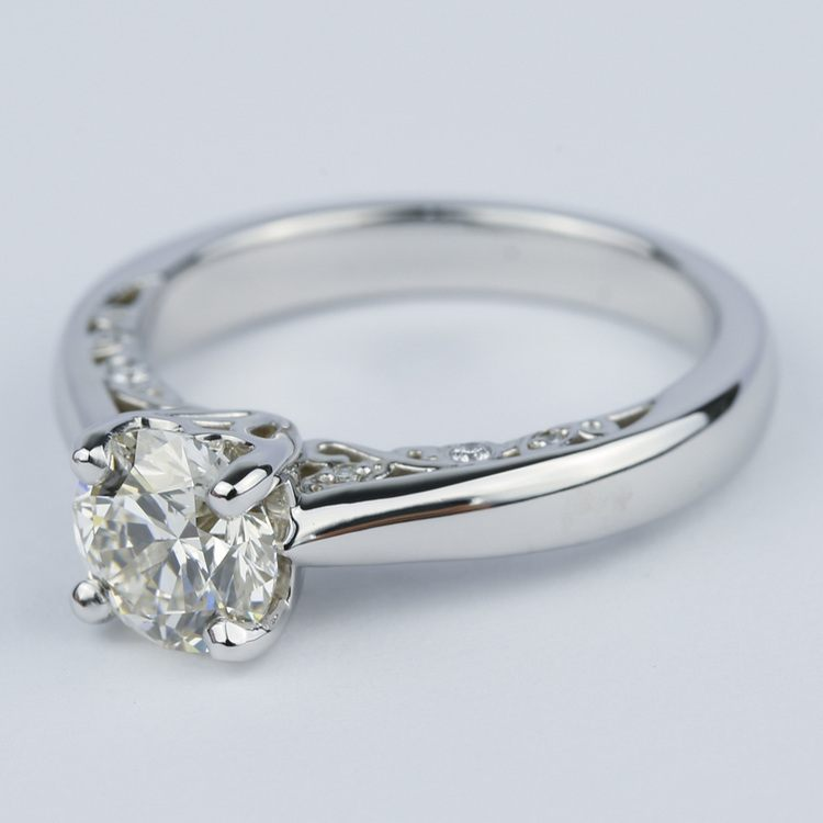 Antique Side-Scroll Diamond Engagement Ring (1.50 Carat) angle 2