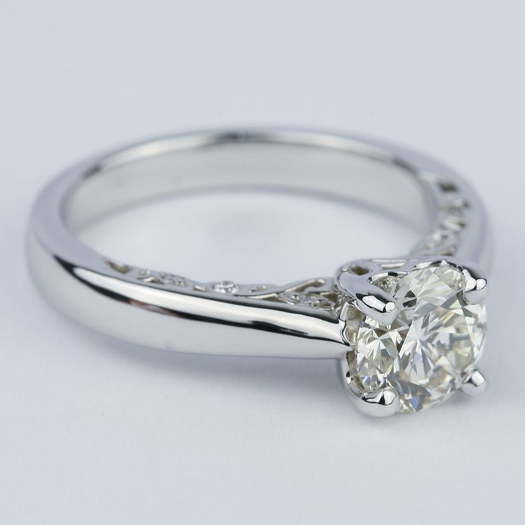 Antique Side-Scroll Diamond Engagement Ring (1.50 Carat) angle 3