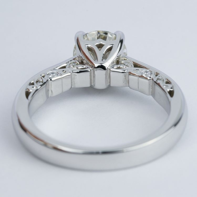 Antique Side-Scroll Diamond Engagement Ring (1.50 Carat) angle 4