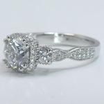 Custom Vintage 1.5 Round Diamond Engagement Ring - small angle 2