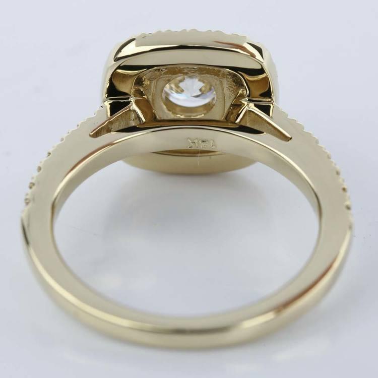Custom Double Halo Diamond Engagement Ring (0.29 ct.)  angle 4