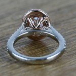 Custom Dual Tone Flawless 1 Carat Oval Diamond Halo Engagement Ring - small angle 4