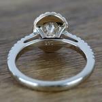 Custom Dual Tone Floating Halo Oval Diamond Engagement Ring (1.32 Carat) - small angle 4