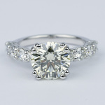 Diamond Engagement Ring with Large Side Diamonds (2 Carat) - small