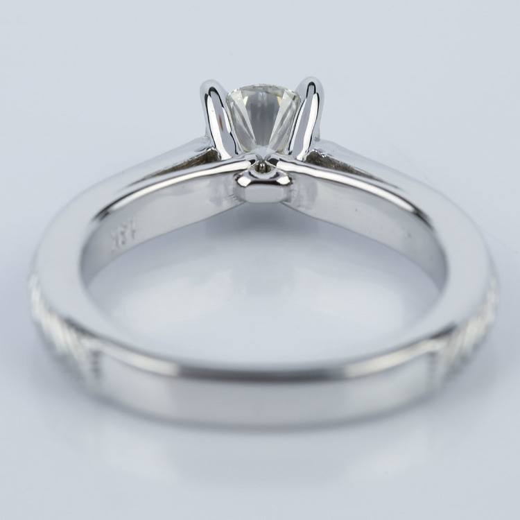 Custom Engraved Solitaire Engagement Ring (0.40 ct.) angle 4