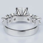 Custom Five Diamond Engagement Ring in White Gold (2.12 ct.) - small angle 4