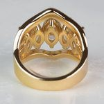 Custom Five Marquise Diamond Ring with Round and Baguette Side Diamonds - small angle 4