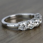 Custom Five-Stone Round Loose Diamond Engagement Ring - small angle 3