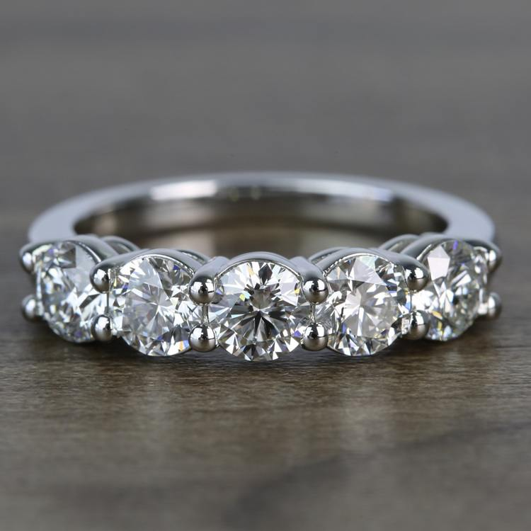 Custom Five-Stone Round Loose Diamond Engagement Ring