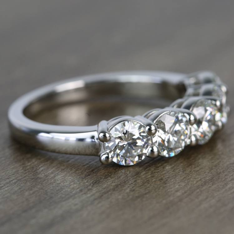 Custom Five-Stone Round Loose Diamond Engagement Ring angle 3