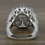 Floral Halo Diamond Engagement Ring (1 Carat) - small angle 4
