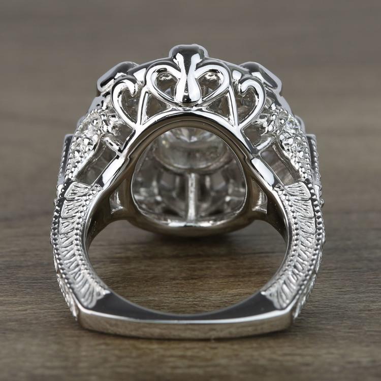 Floral Halo Diamond Engagement Ring (1 Carat) angle 4